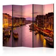 Parawan 5częściowy  Miasto zakochanych  Wenecja nocą [Room Dividers]
