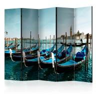 Parawan 5częściowy  Gondole na Canal Grande, Wenecja [Room Dividers]