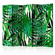 Parawan 5częściowy  Tropikalne liście [Room Dividers]