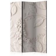 Parawan 3częściowy  Papierowe kwiaty (kremowy) [Room Dividers]