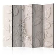 Parawan 5częściowy  Papierowe kwiaty (kremowy) [Room Dividers]