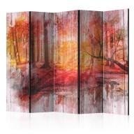 Parawan 5częściowy  Jesienny las [Room Dividers]