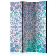 Parawan 3częściowy  Dziewczęca Mandala (niebieski) [Room Dividers]