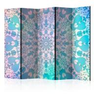 Parawan 5częściowy  Dziewczęca Mandala (niebieski) [Room Dividers]