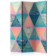 Parawan 3częściowy  Orientalne trójkąty [Room Dividers]