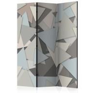 Parawan 3częściowy  Geometryczna układanka [Room Dividers]
