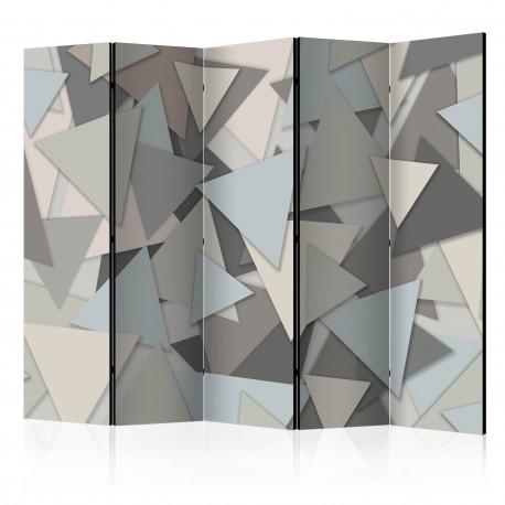 Parawan 5częściowy  Geometryczna układanka [Room Dividers]