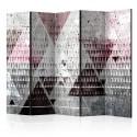 Parawan 5-częściowy - Trójkąty [Room Dividers]