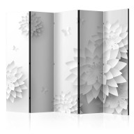 Parawan 5-częściowy - Orientalne kwiaty [Room Dividers]