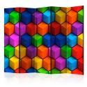 Parawan 5-częściowy - Kolorowe pola geometryczne [Room Dividers]