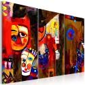 Obraz malowany - Abstrakcyjny karnawał