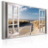 Obraz - Okno: widok na plażę