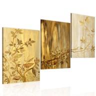 Obraz malowany  Złote liście