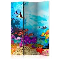 Parawan 3częściowy  Kolorowe rybki [Room Dividers]