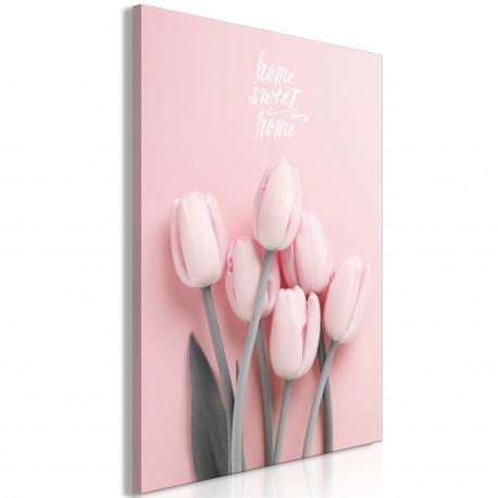 Obraz  Sześć tulipanów (1częściowy) pionowy