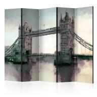 Parawan 5częściowy  Wiktoriański Tower Bridge II [Room Dividers]