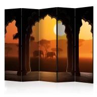 Parawan 5częściowy  Usłyszeć Afrykę II [Room Dividers]