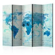 Parawan 5częściowy  Cruising and sailing   The World map II [Room Dividers]