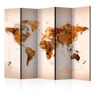 Parawan 5częściowy  Świat w brązach II [Room Dividers]