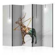 Parawan 5częściowy  jeleń (3D) II [Room Dividers]