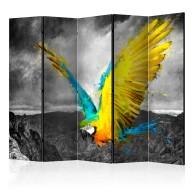 Parawan 5częściowy  Exotic parrot II [Room Dividers]