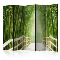 Parawan 5częściowy  Magiczny świat zieleni II [Room Dividers]