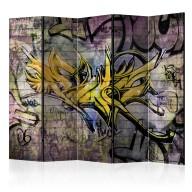 Parawan 5częściowy  Stunning graffiti II [Room Dividers]