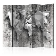 Parawan 5częściowy  Mapa świata origami II [Room Dividers]