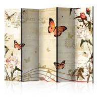 Parawan 5częściowy  Melodie motyli II [Room Dividers]