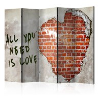 Parawan 5częściowy  Love is all you need II [Room Dividers]