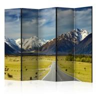 Parawan 5częściowy  Southern Alps, New Zealand II [Room Dividers]