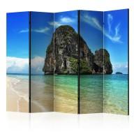 Parawan 5częściowy  Egzotyczny krajobraz  plaża Railay, Tajlandia II [Room Dividers]