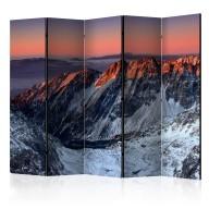 Parawan 5częściowy  Beautiful sunrise in the Rocky Mountains II [Room Dividers]
