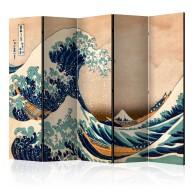 Parawan 5częściowy  Hokusai Wielka fala w Kanagawie (Reprodukcja) II [Room Dividers]