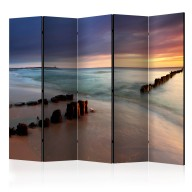 Parawan 5częściowy  Plaża  wschód słońca II [Room Dividers]