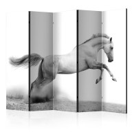 Parawan 5częściowy  White gallop II [Room Dividers]