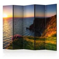 Parawan 5częściowy  Zachód słońca Moherowe Klify, Irlandia II [Room Dividers]