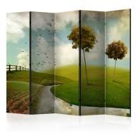 Parawan 5częściowy  jesień  krajobraz II [Room Dividers]