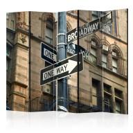 Parawan 5częściowy  Wszystkie drogi prowadzą na Broadway II [Room Dividers]