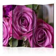 Parawan 5częściowy  Bunch of lila flowers II [Room Dividers]