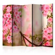 Parawan 5częściowy  Pink azalea II [Room Dividers]