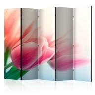 Parawan 5częściowy  Wiosna i tulipany II [Room Dividers]