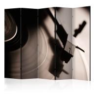 Parawan 5częściowy  Gramofon i płyta winylowa II [Room Dividers]
