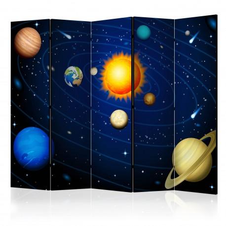 Parawan 5częściowy  Układ słoneczny II [Room Dividers]