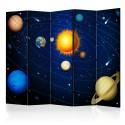 Parawan 5-częściowy - Układ słoneczny II [Room Dividers]