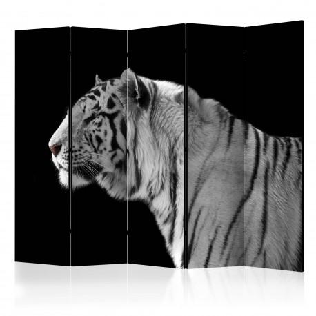 Parawan 5częściowy  Biały tygrys II [Room Dividers]