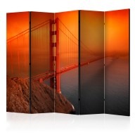 Parawan 5częściowy  Most Golden Gate II [Room Dividers]