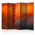 Parawan 5-częściowy - Most Golden Gate II [Room Dividers]