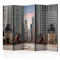 Parawan 5częściowy  Chicago street II [Room Dividers]