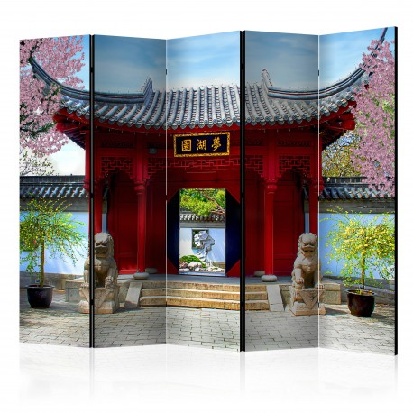 Parawan 5częściowy  Chinese botanical garden of Montreal (Quebec Canada) II [Room Dividers]